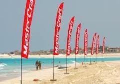 beach teardrop banners