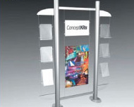 Display wall with brochure holders