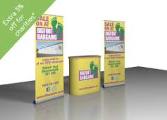 Banners & display counter