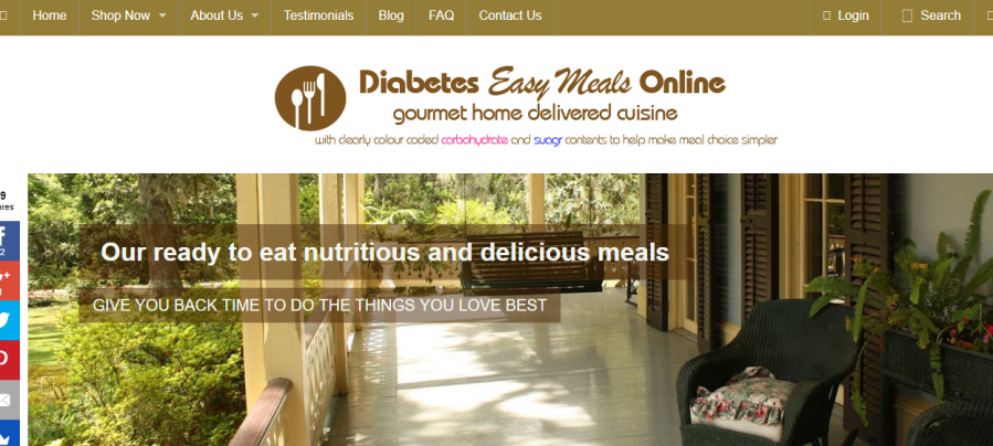 Diabetes Easy Meals Online website
