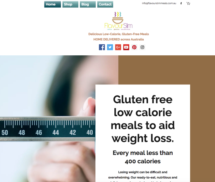 Weight loss website build